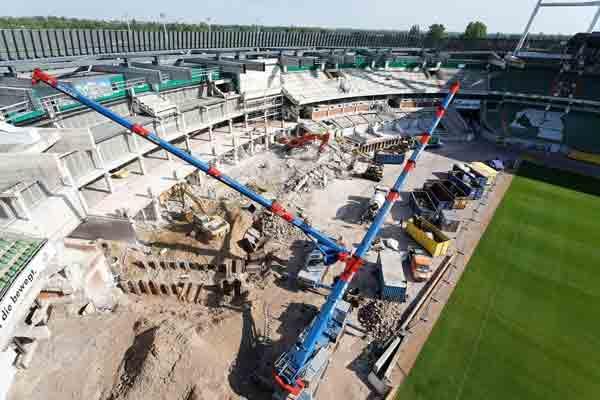 Weser Stadion Rückbau Ost/Westkurve