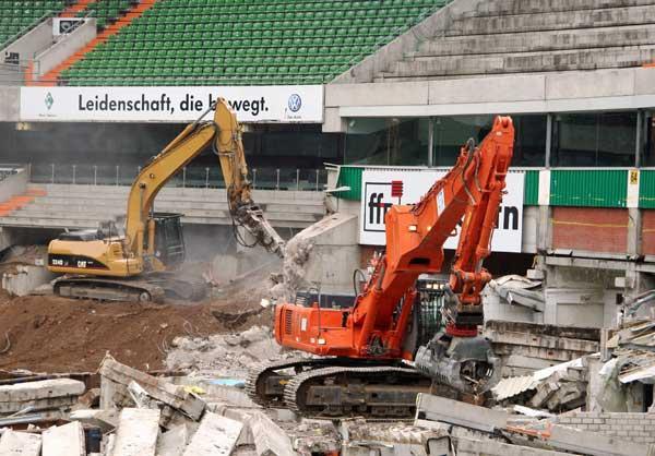 Rückbau Weserstadion Ost/Westkurve