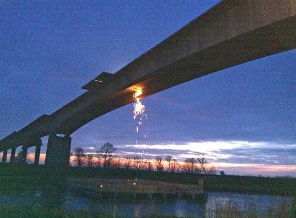 Schweißarbeiten Störbrücke