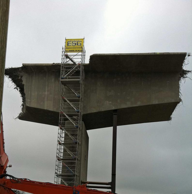 Rückbauarbeiten Störbrücke
